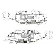 "TC 48026 Kamov Ka-32 ""Helix"" Simplex Fire Attack Conversion Detail Set 1/48"