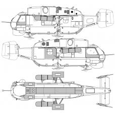 "TC 72064  Kamov Ka-32А11BC ""Helix"" Exterior Detail Set 1/72"