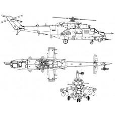 "TC72068 Mil Mi-35M with EW Complex ""Vitebsk"" Exterior Detail Set 1/72"