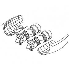 "TC 72026 Mil Mi-28 ""Havoc"" Engine Detail Set 1/72"