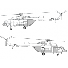 "TC 72036 Mil Mi-8 AMTSh ""Terminator"" Conversion Detail Set 1/72 (Closed Ramp)"