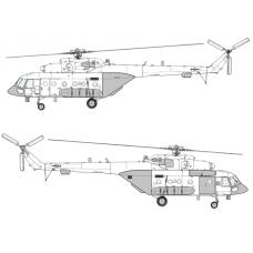 "TC 72036 Mil Mi-8 AMTSh ""Terminator"" Conversion Detail Set 1/72 (Closed Ramp)"