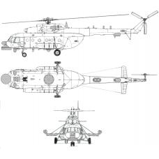 """TC 72040 Mil Mi-8  MNP-2 """"Hip"""" Conversion Detail Set 1/72"""