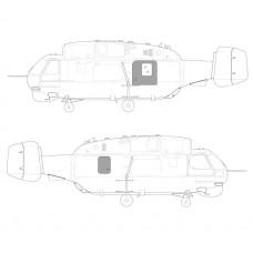 TC 48004 Kamov Ka-32 Helix-C The Sliding Door & Emergency Hatch Set 1/48