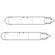 TC72074 External Fuel Tank 500 litres (x2) For Mil Mi-8/17, Mi-24/35 kits 1/72