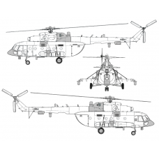 TC72102 Mil Mi-8 AMTSh-1 Conversion Detail Set